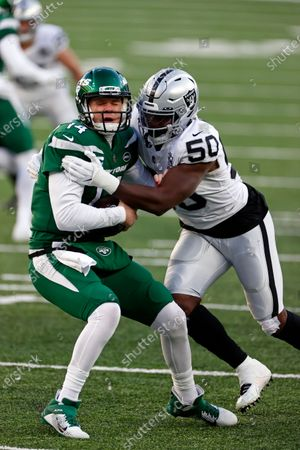 Editorial image of Raiders Jets Football, East Rutherford, United States - 06 Dec 2020