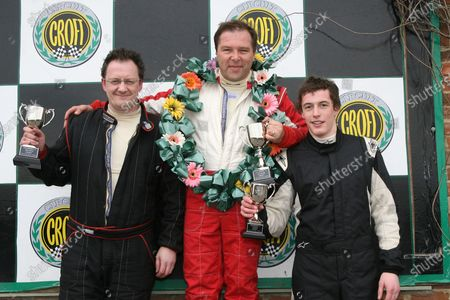 2008 Motorsport News Cterhm Roadsport A. Croft, England. 25th - 27th April 2008. Race 1 Podium (l-r) David Pearce, Jonathan Walker, Lewis Hopkins. World Copyright: Ebrey/LAT