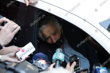 Stock Picture of Uruguayan former President Jose Mujica speaks to reporters as he visits the mortuary where the body of former President Tabare Vazquez has been moved, in Montevideo, Uruguay, 06 December 2020. Vazquez, 80, died early this morning.