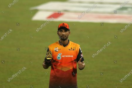 Gemcon Khulna cricket player, Mahmudullah seen during the Bangabandhu T20 Cup 2020 between Minister Group Rajshahi and Gemcon Khulna at Sher e Bangla National Cricket Stadium. Gemcon khulna won by 5 wickets.