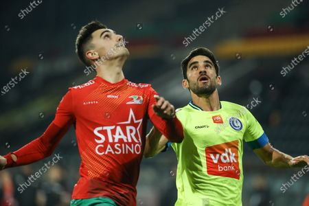 Gent's Milad Mohammadi is pictured during a soccer match between KV Oostende and KAA Gent, Sunday 06 December 2020 in Oostende, on the fifteenth day of the 'Jupiler Pro League' first division of the Belgian championship.