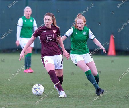 Stock Photo of Rachel Walkingshaw of Hearts and Ellis Notley of Hibernian