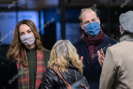 Editorial photo of Prince William and Catherine Duchess of Cambridge at Euston station, London, UK - 06 Dec 2020