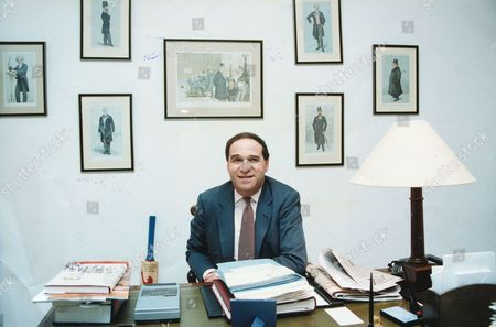 Stock Picture of Euro Mp Sir Leon Brittan In His Office. (now Baron Brittan Of Spennithorne In The County Of North Yorkshire) (rt Hon Sir Leon Brittan Qc Life Peer)