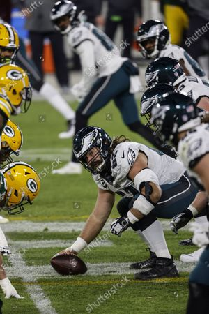 Philadelphia Eagles center Jason Kelce (62) during an NFL football game, Sunday, Dec 6. 2020, between the Philadelphia Eagles and Green Bay Packers in Green Bay, Wis