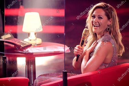 German singer Helene Fischer attends the 'Ein Herz Fuer Kinder' (lit: A Heart for Children) gala show in Berlin, Germany, 05 December 2020. German television channel ZDF and newspaper 'Bild' collected donations for children's charity organizations in Germany and the whole world.