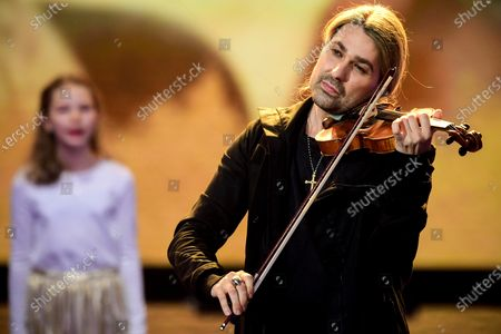 German violinist David Garrett performs on stage during the 'Ein Herz Fuer Kinder' (lit: A Heart for Children) gala show in Berlin, Germany, 05 December 2020. German television channel ZDF and newspaper 'Bild' collected donations for children's charity organizations in Germany and the whole world.