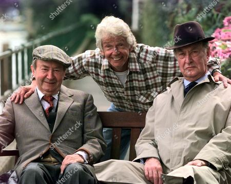 Stock Picture of Tom Owen Son Of The Late Bill Owen Is To Play His Long Lost Son Tom Simmonite In New Series Of Last Of The Summer Wine. He Is Pictured With Fellow Cast Members; Peter Sallis And Frank Thornton.