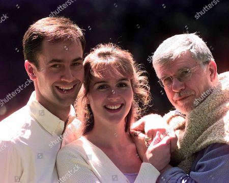 Editorial picture of Photocall For The Kings Head Theatre Production Of Bless The Bride Picture Shows; (l-r) Jack Rebaldi Tiffany Edwards And Director Martin Charnin.