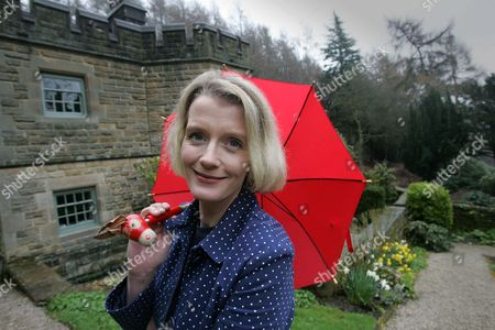 Author Wendy Holden at her home in Two Dales, Derbyshire