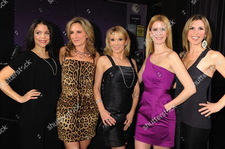 L-R: Bethenny Frankel, Sonja Morgan, Ramona Singer, Alex McCord, Jennifer Gilbert