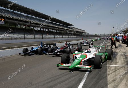 12 - 20 May, 2007, Indianapolis, Indiana, USA Danica Patrick, Michael Andretti and Tony Kanaan go three wide in pit lane when track goes green for  practice ©2007, Dan Streck, USA LAT Photographic