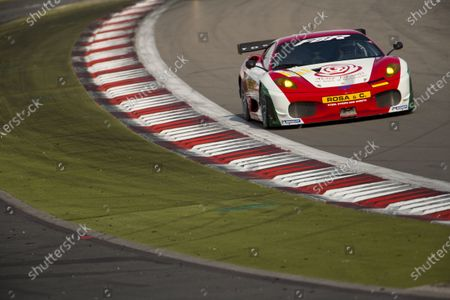 Nurburgring, Germany. 21st - 23rd August 2009.  Andrea Montermini / Giacomo Ricci / Gabrio Rosa, (FBR) Ferrari 430 GT.   Action.  World Copyright: Drew Gibson/LAT Photographic.