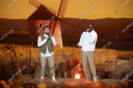 Stock Image of Exclusive - Maitre Gims and Kendji Girac