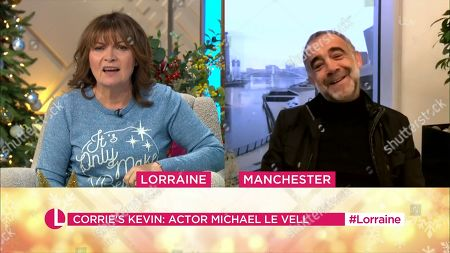Lorraine Kelly and Michael Le Vell