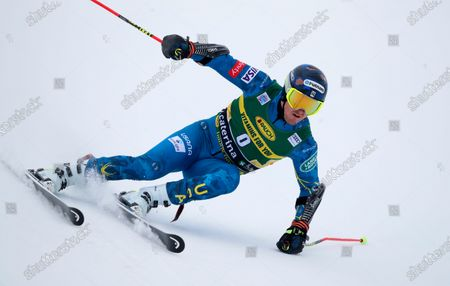 United States' Ted Ligety competes during the first run of an alpine ski, World Cup men's giant slalom in Santa Caterina Valfurva, Italy