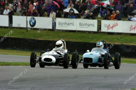 2006 Goodwood Revival Goodwood 1st/2nd/3rd September 2006  Chichester Cup Robin Longdon (Lola-Ford Mk2) leads Stuart Roach (Alexis-Ford Mk2). Action. World Copyright: Jeff Bloxham/LAT Photographic. Ref: Digital Image Only.