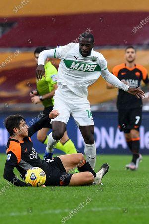 Gonzalo Villar of Rome, Pedro Obiang of Sassuolo, Rome v Sassuolo, Serie A