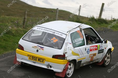 Ulster Rally, Antrim. 21st-22nd August 2009, James Alexander/Helen Alexander Peugeot 106 Rallye World copyright: Ebrey/LAT Photographic.