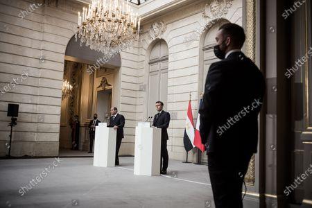 Emmanuel Macron and Abdel Fattah al-Sisi