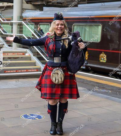 Editorial photo of Prince William and Catherine Duchess of Cambridge at Edinburgh Waverley Station, Scotland, UK - 07 Dec 2020
