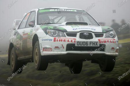 2006 World Rally Championship. Round 16. Wales Rally GB. 1st - 3rd December 2006. Julian Reynolds/Alun Cook, Subaru Impreza. Action. World Copyright: Alastair Staley/LAT Photographic.