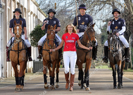 Jodie Kidd Launches The World Polo Series At The Hurlingham Club In London Today Jodie Pictured With Kirsty Craig Henry Brett Jack Kidd And Jamie Morrison