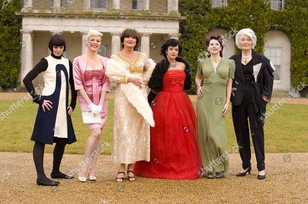 Singer Corinne Drewery, model Sara Stockbridge singer Sandie Shaw, model Sara Stockbridge, singer Lily Allen, pin-up model, Kitten Von Mew and model, Lady Bronwen Astor