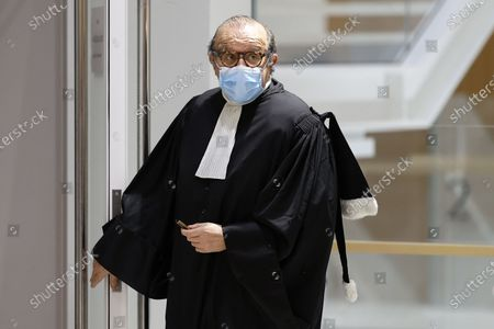 Stock Image of French lawyer Herve Temime at the court during his trial in Paris, France, 07 December 2020. In 2013, Nicolas Sarkozy used a false name to make phone calls to his lawyer Thierry Herzog about the pending decision of the Court of Cassation regarding the seizure of presidential diaries in a separate case. The trial is due to run from 23 November to 10 December 2020.