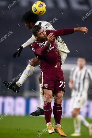 "Juan Guillermo Cuadrado Bello (Juventus) Karol Linetty (Torino)            during the Italian ""Serie A"" match between Juventus 2-1 Torino  at  Allianz Stadium in Torino, Italy."