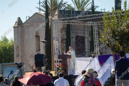 Editorial image of Annual Procession and Mass in honor of Our Lady of Guadalupe at Mission San Gabriel Arcangel, San Gabriel Mission, San Gabriel, California, United States - 06 Dec 2020