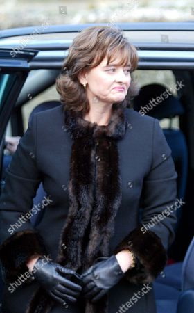 Cherie Blair Arrives At The Funeral Of Lord Roy Jenkins At St. Augustines Church East Hendred Oxon.