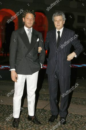 Lapo Elkann and Alain Elkann