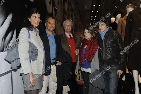 Leonardo Ferragamo, (2nd left), Maria Sole Ferragamo (4th right), Edoardo Ferragamo (5th right)