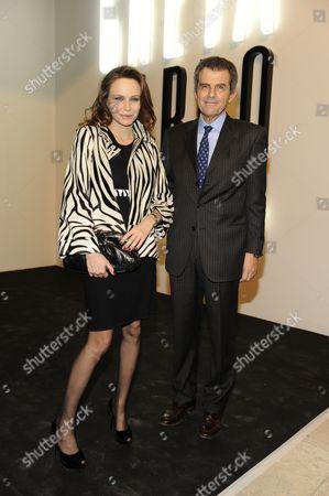 Francesca Neri and Ferruccio Ferragamo