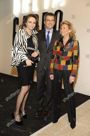 Francesca Neri, Ferruccio Ferragamo, Giovanna Gentile Ferragamo