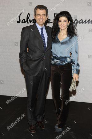 Ferruccio Ferragamo and Ilaria Giusti