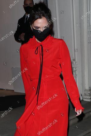 Victoria Beckham leaving her shop