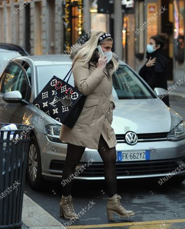 Editorial photo of Francesca Cipriani out and about, Milan, Itlay - 07 Dec 2020