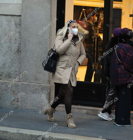 Editorial picture of Francesca Cipriani out and about, Milan, Itlay - 07 Dec 2020