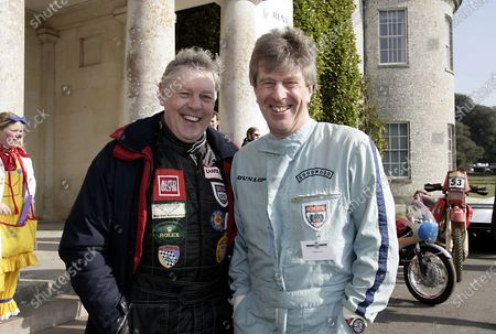 2005 Goodwood Festival of Speed Press Day Goodwood, England. 16th March 2005 Competitors, Barrie 'Whizzo' Williams and Willie Green clown around. World Copyright: Gary Hawkins/LAT Photographic