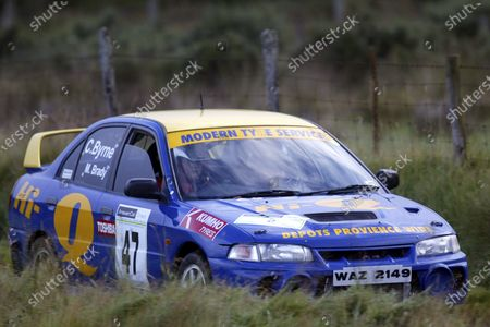 Stock Photo of Connor Byrne/Niall Byrne. Ulster Rally 2003, 5th - 6th September 2003. World Copyright Jakob Ebrey/LAT Photographic