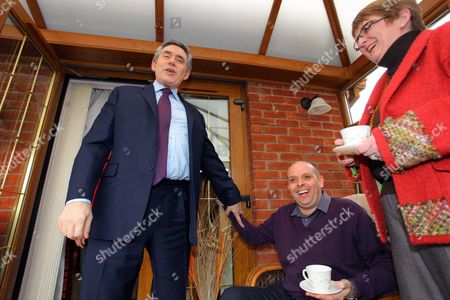 Editorial picture of Prime Minister Gordon Brown Visits Dafen, Llanelli, West Wales, Britain - 27 Feb 2010