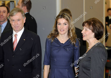 German President Horst Koehler, Crown Princess Letizia and Eva Luise Koehler