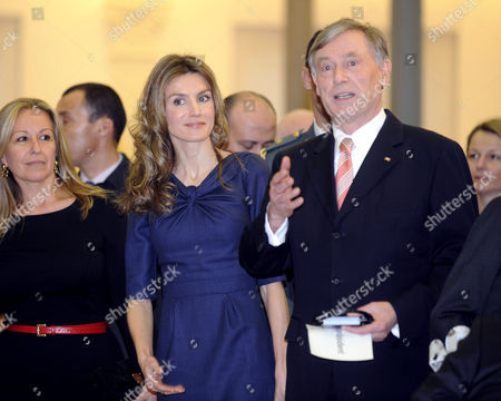 Crown Princess Letizia and German President Horst Koehler