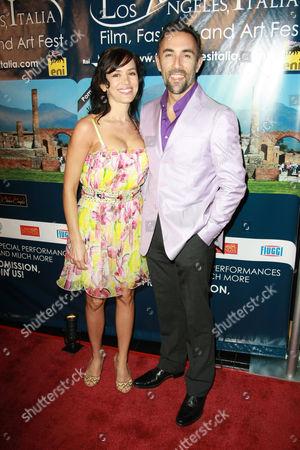 Stock Photo of Francesco Quinn and wife Julie McCann