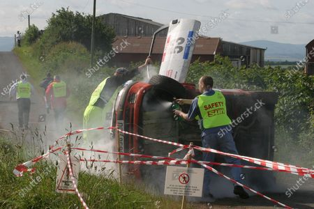 Stock Photo of 2003 British Rally Championship 4th - 6th July 2003. James Gloster. Ooops! Jim Clark Memorial Rally 2003. World copyright. Jakob Ebrey/LAT Photographic.