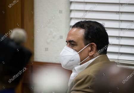 Stock Photo of Alexis Medina, brother of former Dominican President Danilo Medina (2012-2020), attends a hearing as accused on the case of an alleged corruption structure of the previous government that would have managed to steal 81 million dollars from the public treasury, in Santo Domingo, Dominican Republic, 07 December 2020. A week earlier, the Prosecutor's Office launched an operation against officials of the previous government and state suppliers, which led to the arrest of ten people, including two brothers of former President Danilo Medina; Juan Alexis Medina and Carmen Magalys Medina.