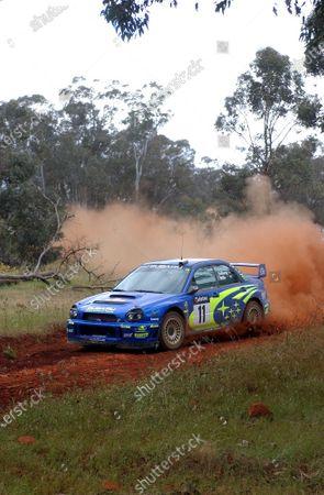 2002 World Rally Championship. Telstra Rally Australia, Perth. October 31st-November 3rd. Petter Solberg on stage 17. Photo: Ralph Hardwick/LAT