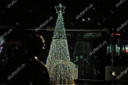 Editorial picture of Oviedo Christmas lights on, Asturias, Spain - 07 Dec 2020